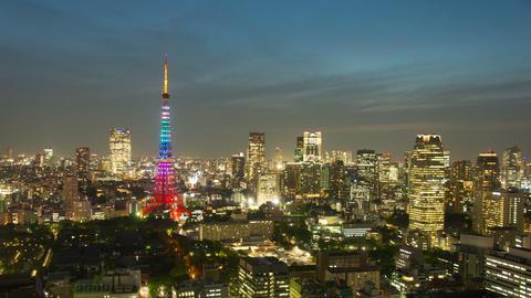 Tokyo, Japan City Skyline time lapse Tokyo, Japan Footage
