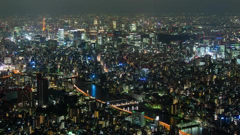 Tokyo, Japan City Skyline time lapse from tokyo skytree observatory Tokyo, Japan Footage
