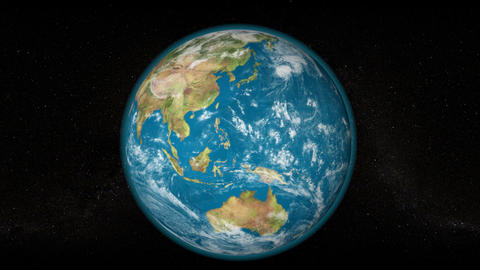 Zoom Out Japan Earth Rotating, The World Spinning stock footage