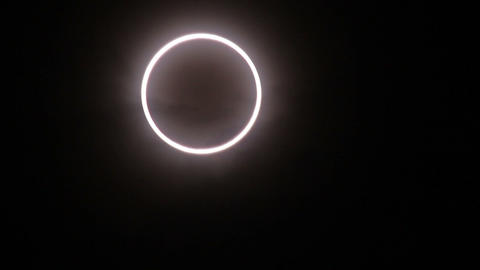 Annular eclipse as the moon passes the sun Footage
