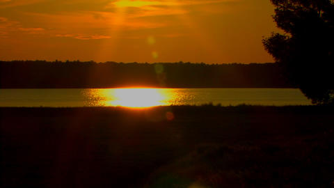 Glistening Sun On Lake stock footage