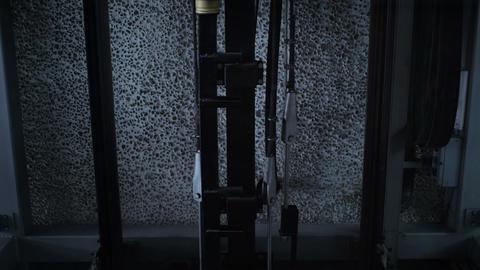 Empty elevator goes down Footage