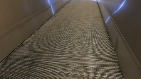 Flat mechanical escalator Footage