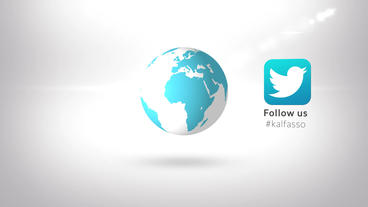 Earth Globe Spin Social Media Reveal Business Logo Intro stock footage