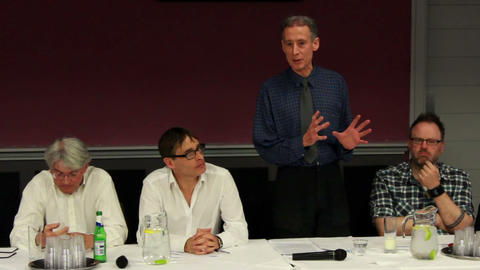 Peter Tatchell talking about the best police of Green Party for gay rights Footage