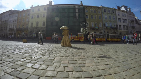 Timelapse Lviv city Footage