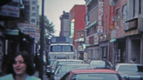 1975: Chinatown restaurants and scenes from the area Footage