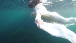Woman under water, Slow Motion Footage