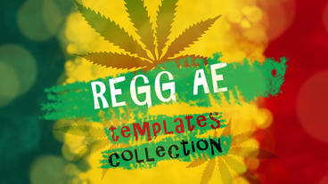 Reggae Cannabis After Effects Template