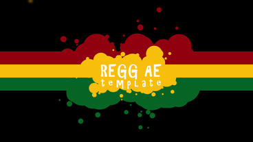 Reggae Title Intro stock footage