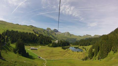 Ziplining In Switzerland stock footage