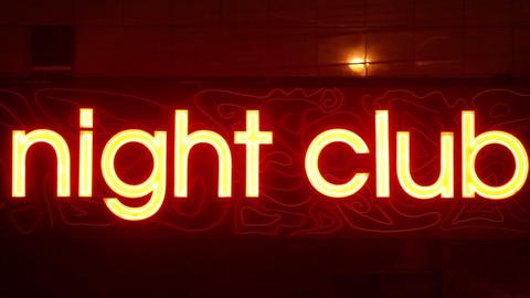 Night Club Sign Footage