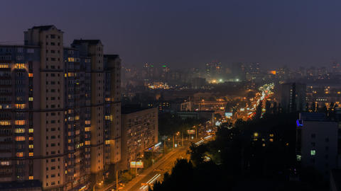 Night City In Motion 2 stock footage