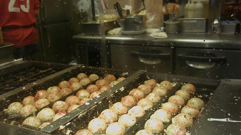 Japanese Takoyaki stock footage