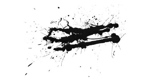 Alpha Channel Paint Splats Collection for Transition and... Stock Video Footage