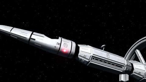 Space Ship Interstellar Flight Animation