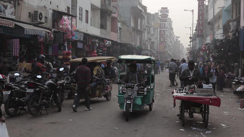 Indians on the streets of New Delhi, India Footage
