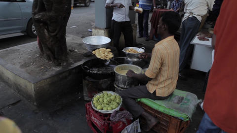 Indians on the streets of Mumbai, India Footage