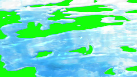Water green screen revealer Animation