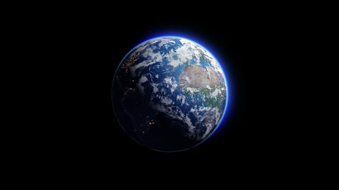 Earth D 1 4 K Animation