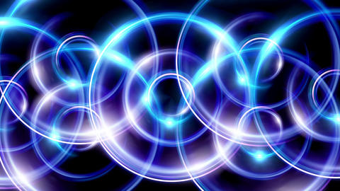 overlay ring flare pattern blue Animation