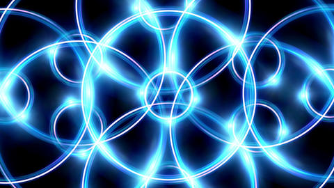 ring flare cross pattern blue Animation