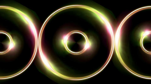 triple ring flare pattern pink yellow Animation