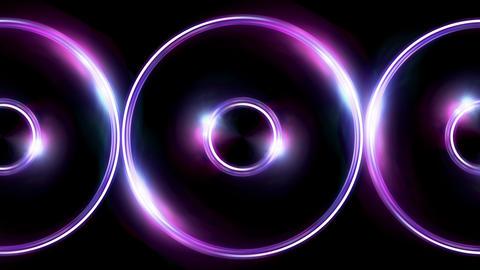 triple ring flare pattern purple blue Animation