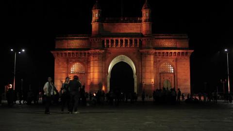 Gateway of India in Mumbai, India Footage