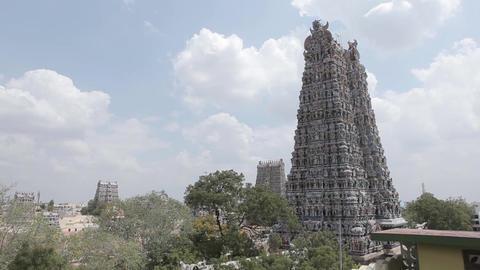 Meenakshi Amman Temple in Madurai, India Footage