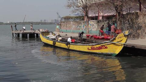 Indian fishers on the sea coast, India Footage