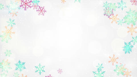 multicolor snowflakes frame loopable background Animation