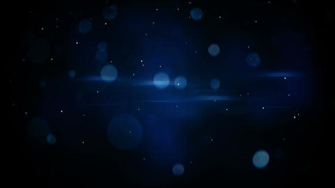 blue bokeh circles and light flares loopable background 4k (4096x2304) Animation