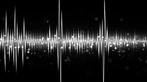 white and black audio waveform seamless loop 4k (4096x2304) Animation
