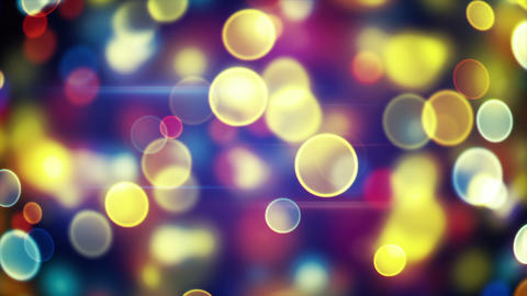 glowing circle bokeh lights loopable background Animation