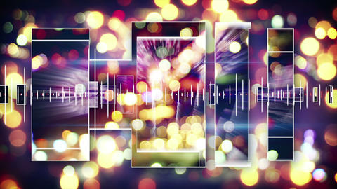 music equalizer festive loopable background 4k (4096x2304) Animation