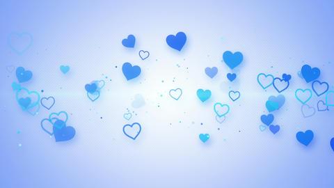 blue elegant hearts seamless loop animation 4k (4096x2304) Animation