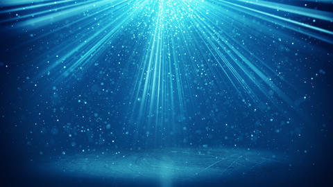 blue light beams and particles loopable background 4k (4096x2304) Animation