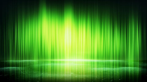 green light lines and reflection loop background 4k (4096x2304) Animation