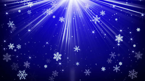 snowflakes in blue light beams loopable animation 4k (4096x2304) Animation