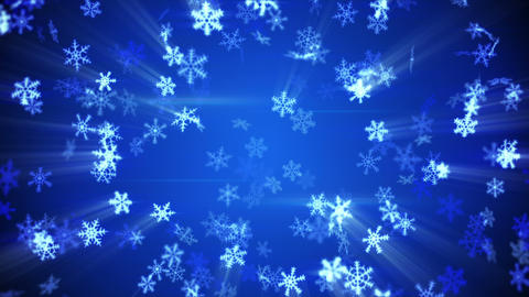 glowing falling snowflakes seamless loop winter background Animation
