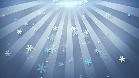 snowflake shapes falling in circular rays loopable animation 4k (4096x2304) Animation