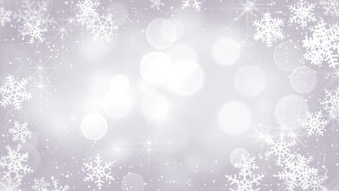 silver snowflakes frame loopable background Animation