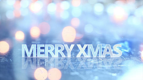merry christmas text and blinking lights seamless loop 4k (4096x2304) Animation