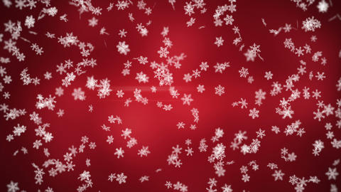 falling snowflakes seamless loop winter background Animation