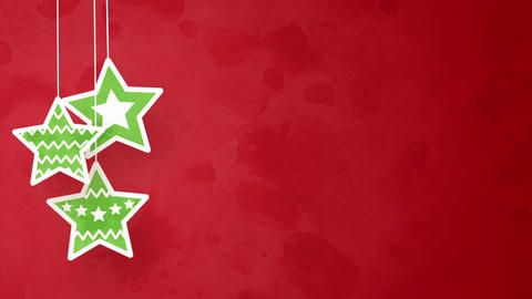 christmas stars on red loopable background Animation