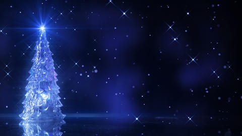 christmas tree and falling stars loop 4k (4096x2304) Footage