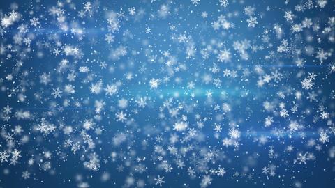 Beautiful Fluffy Snowfall Seamless Loop Animation 4k (4096x2304) stock footage
