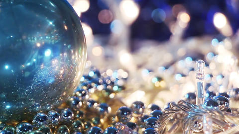 christmas decorations close-up seamless loop Footage