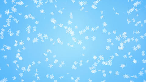 falling snowflakes seamless loop christmas background Animation